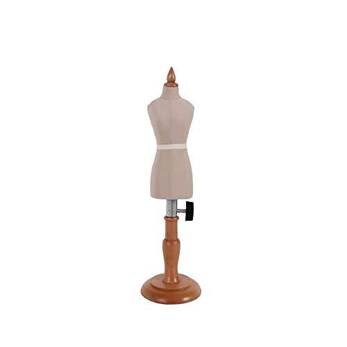Hyl Maniqui Costura Mini modistas maniquí Famale, Maniquí de la muñeca de la Forma del Vestido de Pantalla, 1: 4 Dollhouse de la Escala decoración de los Accesorios (Color : White)