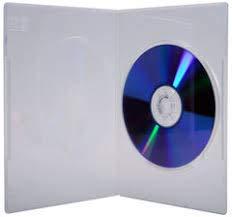100 x singolo trasparente slim 7 mm dorso DVD/CD/BLU RAY