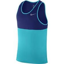 Nike Men's Dry Running Tank, Omega Blue/Deep Royal Blue/Omega Blue/Reflective Silver, MD