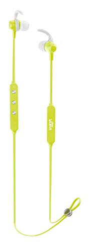 Vieta Pro Libero - Auriculares inalámbricos (Bluetooth, radio FM, micrófono integrado, soporte magnético y estabilidad para hacer deporte, autonomía 10 horas) verde