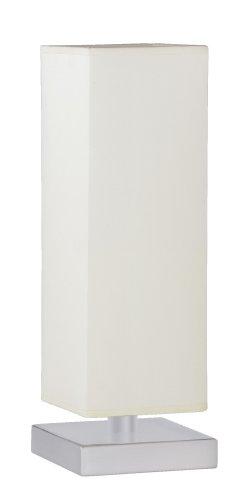 Trio-Leuchten 5914011-01 Tischleuchte Touch ME 1xE14 max. 60W Nickel matt Stoffschirm weiß