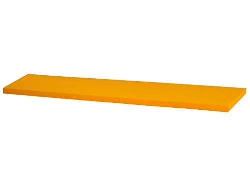 Kallax Regal Sitzauflage 146 x 39 x 4 cm Sitzpolster Sitzbank-Auflage Sitzkissen/Auflage für Sideboard als Sitzbank/unempfindlicher Bezug/Farbe GELB