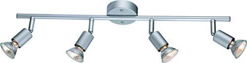DM Leuchten Deckenlampe LED Lampe schwenkbar 4 flammig inkl. Leuchtmittel 4x 3 Watt, warmweiß, GU 10 Fassung, LED Deckenleuchte LED Strahler LED Spot, Matt Nickel