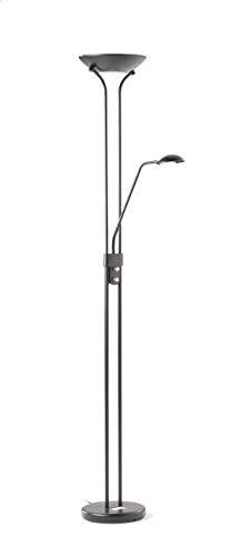 Lámpara de pie de salón Disk acabado negro