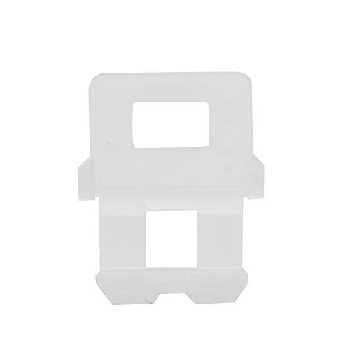 100pcs Clips espaciadores de azulejos Clips de sistema de nivelación de azulejos FG4 Tipo de tapa de rosca Clips de nivelación de azulejos Herramientas auxiliares para azulejos para aumentar eficazmen
