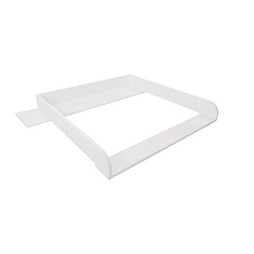 Puckdaddy Wickelaufsatz Lijan - 108x80x10 cm, Wickelauflage aus Holz in Weiß, hochwertiger Wickeltischaufsatz, passend für IKEA Hemnes Kommoden