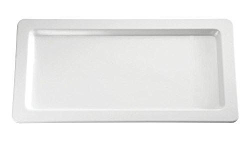 APS 83832 APART GN 1/3 weiß Tablett aus Melamin, 32.5 x 17.6 x 2.5 cm