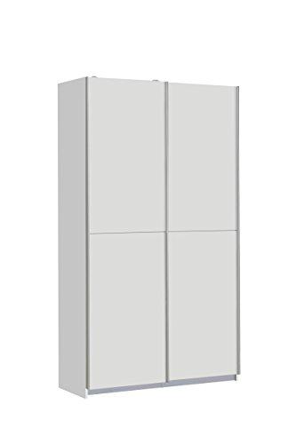 FORTE Ohio Mehrzweckschrank, Holz, weiß, 120 x 42 x 190.50 cm