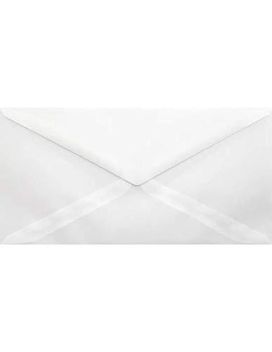 500 weiß-transparente Briefumschläge DIN Lang 110x220mm 110g Golden Star DL Briefkuverts mit spitzer Klappe durchsichtig Briefhüllen transparent für Hochzeits-Einladungen Glückwunschkarten