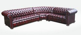 Designer Sofas4u Chesterfield Emerson Coin Cuir Suite, Meubles, Chesterfield Suites