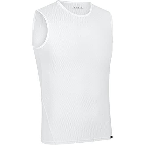 GripGrab Camiseta Interior Ciclismo Pack 1 o 3 uds Sin Mangas de Rejilla Ropa Técnica Ciclista Transpirable Unisex, Blanco - 1 Ud, XXL