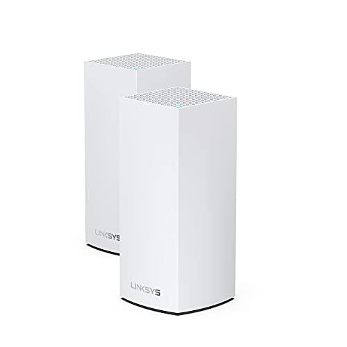 Linksys - Sistema Mesh WiFi 6 de Doble Banda para Todo el hogar Atlas Pro 6 (Router WiFi AX5400, Cobertura para 500 m², el cuádruple de Velocidad para más de 60 Dispositivos, Paquete de 2), Blanco