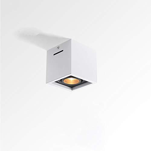 Spotlight montado en la superficie Cuadrado LED LED de un solo ángulo ajustable Ángulo de estar Corredor Lámpara de techo Lámpara de techo Araña Agujero libre Sin lámpara principal Diseño de Downlight