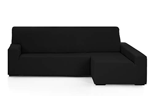 Martina Home Emilia - Funda para sofa Chaise Longue - Brazo derecho, color Negro