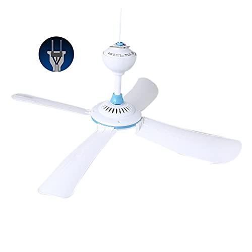 DOUYUAN Viento Blando de una Sola Velocidad 220V 20W 4 Ventilador de Techo en Forma de Ventilador, diámetro 42/62 / 80/92cm Ventilador de Techo silencioso Blanco, Enchufe Americano (Color : 42cm)