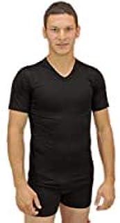 GERMINI 3 Pezzi T-Shirt LIABEL Corpo Uomo Scollo V Mezza Manica Cotone Elasticizzato Bianco Art. 3858/53 dalla 3 ALLA7