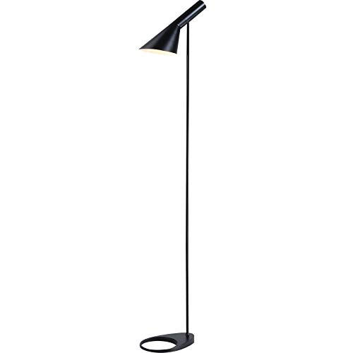 BarcelonaLED Lámpara de Pie Diseño Moderno Metal Nórdico Negro con Casquillo E27 con Cabeza Ajustable Interruptor de Pie para Suelo Salón Habitación Estudio