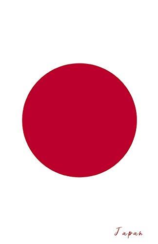 Japan: Flagge, Notizbuch, Urlaubstagebuch, Reisetagebuch zum selberschreiben