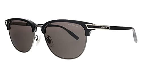 Montblanc MB 0040 S- 005 - Gafas de sol, color negro y gris plateado