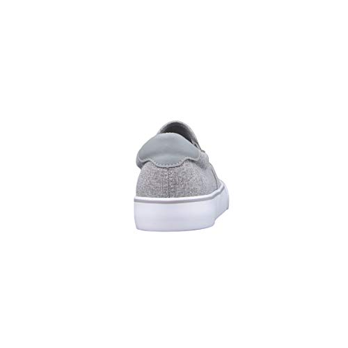 Lugz Men's Clipper Classic Slip-on Fashion Sneaker, Medium Grey/White/Gum, 11