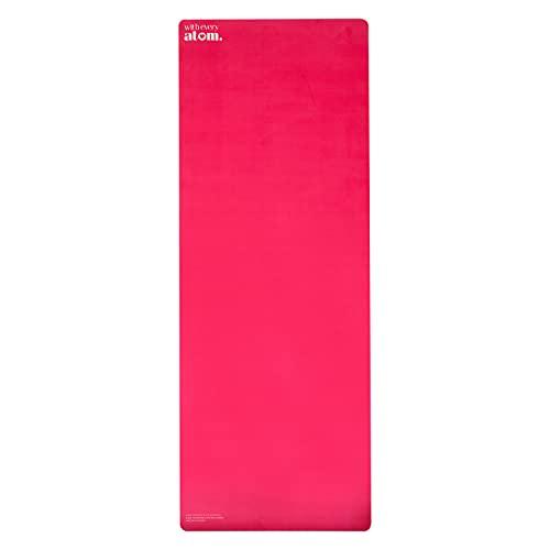 Lux - Esterilla de yoga de ante vegano sostenible con tecnología de microcristales en color fucsia
