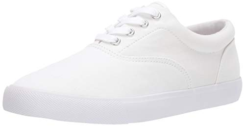 Amazon Essentials Men's Casual Lace Up Sneaker, White, 10 B US
