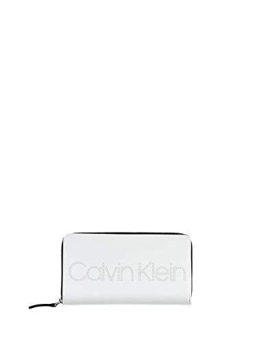 Calvin Klein - Ck Must Psp20 Lrg Z/a P, Carteras Mujer, Blanco (White), 2x11x20 cm (W x H L)