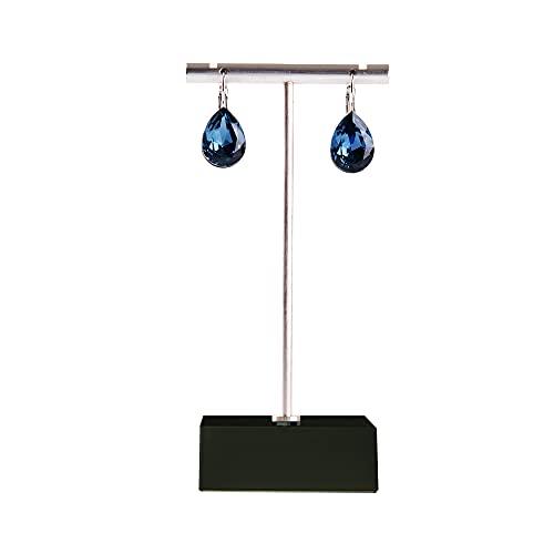 Oirlv Espositore per orecchini, utilizzabile per fiere, orecchini, scaffalatura in metallo, per orecchini, decorazione per la casa (nero)