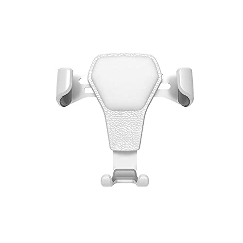 Car Phone Holder Car For iPhone For Samsung For Huawei Support For Phone In Car Air Vent Mount Stand No Magnetic Gravity Smartphone-White