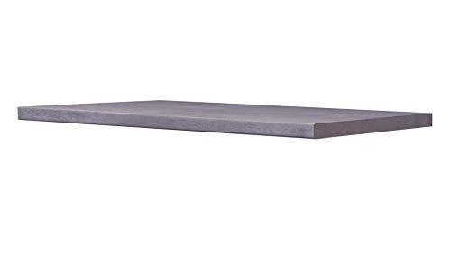 Smart Möbel Arbeitsplatte 150 x 60 x 3,8 cm Beton-grau Dekor Beton-Optik