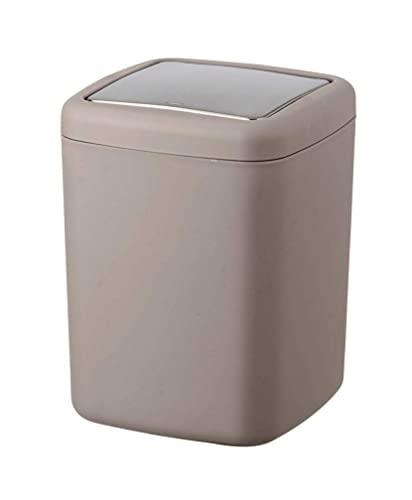 WENKO Poubelle Barcelona taupe - Poubelle incassable couvercle bacsulant Capacité: 3 l, Plastique (TPE), 15 x 20 x 15 cm, Taupe