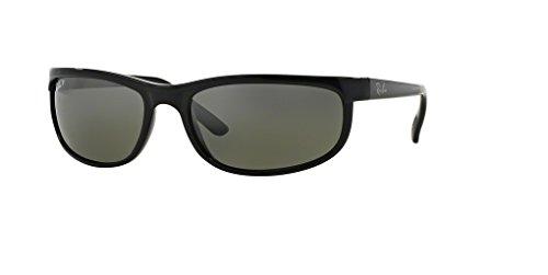Ray-Ban RB2027 PREDATOR 2 601/W1 62M Black/Dark Grey Polarized Sunglasses For Men For Women