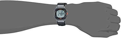 Timexメンズアイアンマントランジット40mm腕時計ブラック/レッドのアクセント。