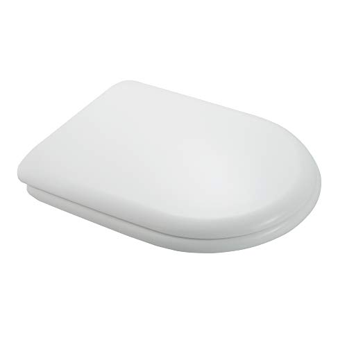 Inbagno Copriwater Dedicato Sanitari Olympia Serie Rubino in Termoindurente Bianco