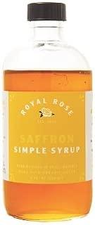 Royal Rose, Simple Syrup Saffron Organic, 8 Ounce