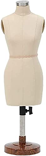 HAO KEAI Maniqui Costura Maniquí soporte pequeñas modistas ficticias hembra, 1: 2 escala de altura ajustable, maniquíes de sastre Mini muñecas de muñeca Visualización de muñecas Maniquí Femenino de Co