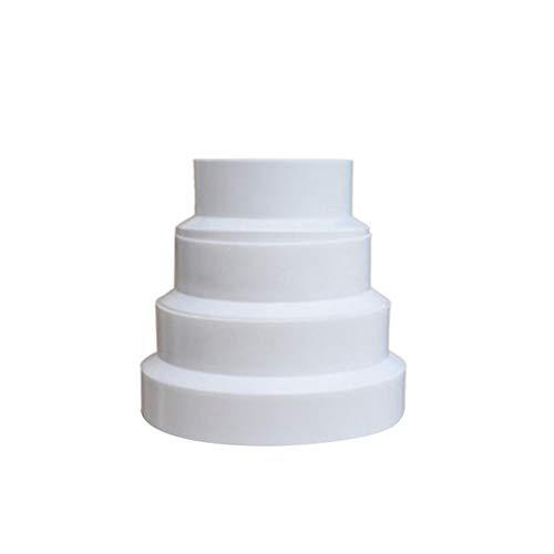 Conector reductor de tubo de diámetro 180-200 mm, ventilador de conducto de ventilación de tubo redondo para ventiladores extractores de baño, ventiladores en línea, extractores de campana extractora