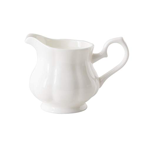 Gravy Boats,Creamer Pitcher Cream Pitcher Ceramics Milk Jug Sugar Jar Bell-Shaped Coffee Milk Creamer Pitcher 7.77oz/230ml Suitable for Home Use Afternoon Tea Pitcher Salad Dressing Server