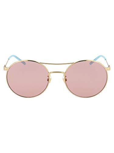 Gucci GG0680S004GOLDGOLDPINK - Gafas de sol de metal rosa para mujer