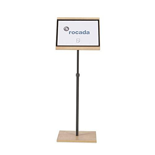 Rocada | Panel Informativo Magnético | Elegante Expositor A4 en Melamina | Atril para Exposiciones y Presentaciones