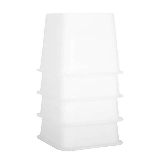 Elevador de Muebles de 4 Piezas 12X12 Cm Elevador de Sofá Duradero Seguro Blanco para Cama Silla Sofá Borde Inferior Ancho Aumentar Herramienta de Elevación