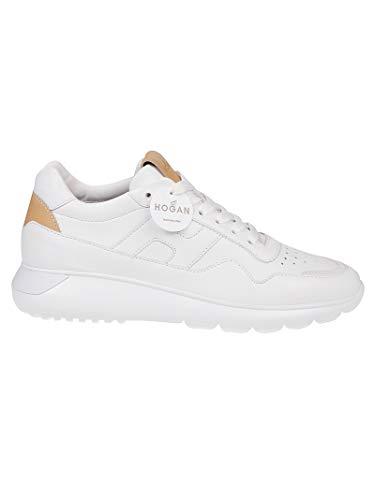 Moda Hogan Hombre HXM3710CV10NSH3215 Blanco Cuero Zapatillas | Primavera-Verano 20