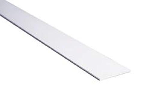 TENDAGGIMANIA Perfil de peso para baldosas, de aluminio blanco, múltiples usos, ideal para cortinas de paneles y paquetes, de 30 y 40 mm, varias longitudes (120, 30)
