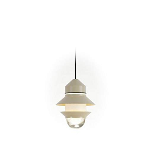 Lámpara Colgante LED E27 8W con difusor de Cristal soplado y prensado, Modelo Santorini IP20, Color Arena, 21,2 x 21,2 x 25,8 centímetros (Referencia: A654-051)