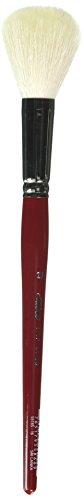 Silber Pinsel Serie 5518S Silber Mop rund kurzer Griff Pinsel, Ziegenhaar, Crimson/Weiß, Größe 16