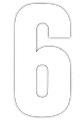 2 Große Nummern für Mülltonnen Selbstklebend Aufkleber Weiße Nummer - 6