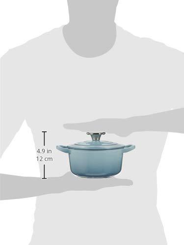 ル・クルーゼ(Le Creuset) 鋳物 ホーロー 鍋 ココット・ロンド ベアー ツマミ 14 cm コースタルブルー ガス IH オーブン 対応 【日本正規販売品】