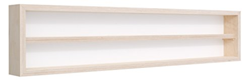 Pihami Collezionisti–Vetrina 2HE Scala H0& N Märklin Regal 140cm Faggio Naturale