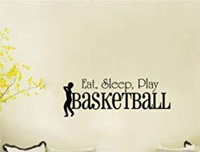 Calcomanía de pared con citas inspiradoras para comer, dormir, jugar al baloncesto para sala de estar, gimnasio, cesta de pasillo