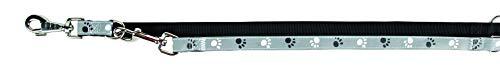 Trixie Silver Reflect V-Leine, M–L: 2,00 m/20 mm, schwarz/grau